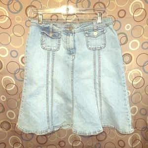 Cabi Size 2 Blue Jean Mini Skirt